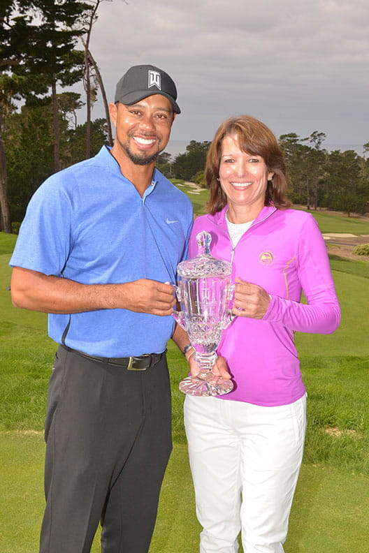 Sonja and Tiger Woods